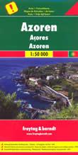 mappa Isole Azzorre con Corvo, Flores, Graciosa, Terceira, Sao Jorge, Faial, Pico, Miguel, Santa Maria 2014