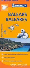 mappa stradale n.579 - Isole Baleari / Balears / Baleares (Spagna) - con Maiorca / Mallorca, Palma, Ibiza / Eivissa, Formentera, Menorca, Cabrera