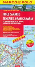 mappa Isole Canarie Gran Canaria, Fuerteventura, Tenerife, Lanzarote, La Gomera, Palma, El Hierro