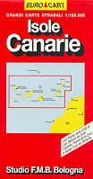 mappa stradale Isole Canarie, Tenerife, Gran Canaria, Fuerteventura, Lanzarote, Gomera, La Palma, Hierro