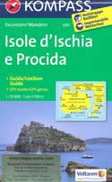 mappa n.680 Isole d' Ischia e Procida plastificata, compatibile con GPS