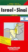 mappa stradale Israele / Israel e Sinai - con Suez, Tel Aviv, Amman, Gerusalemme