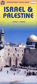 mappa Israele, Palestina stradale