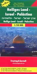 mappa stradale Israele, Palestina e Terra Santa