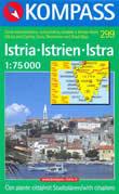 mappa topografica n.299 - Istria / Istrien / Istra - mappa topografica con sentieri per trekking e percorsi MTB, spiagge e luoghi panoramici