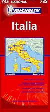 mappa stradale 735 - Italia