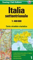 mappa stradale n.1 - Italia settentrionale - edizione 2008