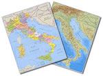 mappa Italia - Fisica e Politica - mappa plastificata 29,5 x 42 cm