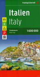 mappa Italia / Italy Italien stradale d'Italia cartografia molto dettagliata con strade numerate, distanze stradali, campeggi, parchi naturali indice località digitale scaricabile su smartphone 2022