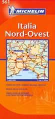 mappa stradale n.561 - Italia nord ovest - con Lombardia, Piemonte, Valle d'Aosta, Liguria