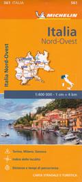 mappa n.561 Italia con Lombardia, Piemonte, Valle d'Aosta, Liguria