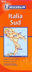 mappa stradale n.564 - Italia Sud - con Puglia, Molise, Campania, Calabria, Basilicata
