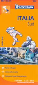 mappa n.564 Italia con Puglia, Molise, Campania, Calabria, Basilicata