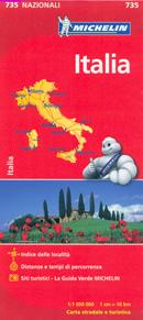mappa n.735 Italia stradale 2014