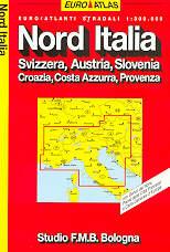 atlante stradale Nord Italia, Svizzera, Austria, Slovenia, Croazia, Costa Azzurra, Provenza - edizione 2013