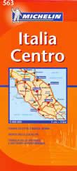 mappa stradale n.563 - Italia Centrale - con Toscana, Umbria, Lazio, Marche, Abruzzo, Rep. San Marino