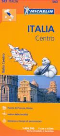 mappa n.563 Italia con Toscana, Umbria, Lazio, Marche, Abruzzo, Rep. San Marino
