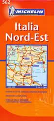 mappa stradale n.562 - Italia Nord Est - con Veneto, Trentino Alto Adige, Friuli Venezia Giulia, Emilia Romagna
