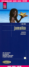 mappa Jamaica / Giamaica con Portmore, Kingston, Bull Bay, Mandeville, Montego Savanna La Mar, Ocho Rios