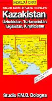 mappa stradale Kazakistan, Uzbekistan, Turkmenistan, Tagikistan, Kirghizistan - edizione 2013