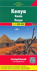 mappa Kenya stradale con luoghi panoramici, spiagge, parchi e riserve naturali