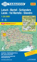 mappa 045 Laces/Latsch, Val Martello, Silandro/Schlanders, Parco Nazionale Stelvio, Cevedale, S. Gertrude