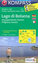 mappa topografica n.2471 - Lago di Bolsena - Acquapendente, Orvieto, Pitigliano, Sorano, Santa Fiora, Selva del Lamone, Marta, Montefiascone, Bagnoregio - mappa plastificata, compatibile con sistemi GPS - nuova edizione