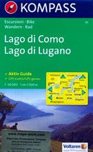 mappa n.91 Lago di Como, Lugano, Mendrisio, Bellagio, Erba, Canzo, Oggiono, Mandello del Lario, Pasturo, Bellano, Colico, Gravedona, Giubiasco, Porlezza, Lecco compatibile con GPS
