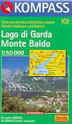 mappa topografica n.102 - Lago di Garda, Monte Baldo