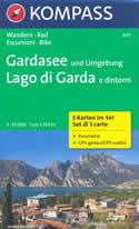mappa n.697 Lago di Garda Monte Baldo, Arco, Riva del Garda, Rovereto, Dolcè, Bussolengo, Verona, Peschiera, Desenzano, Castiglione Stiviere, Manerba, Salò, d'Idro, Ledro Set 3 mappe compatibili con GPS