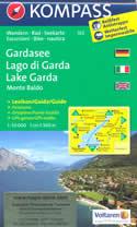 mappa n.102 Lago di Garda, Monte Baldo, Riva del Salò, Desenzano Sirmione, d'Idro, Caprino Veronese, Ledro con informazioni turistiche, sentieri CAI, percorsi panoramici e parchi naturali plastificata, compatibile GPS + panoramica