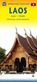 mappa stradale Laos - con Vientiane, Louang Phabang - nuova edizione
