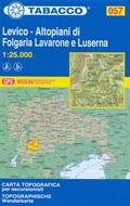 mappa n.057 Levico, Altopiani di Folgaria Lavarone e Luserna con M. Maggio, Campomolon, Tonezza, Rovereto, Serrada, Calliano, Carbonare, Becco Filadonna, Caldonazzo, Vigolo Vattaro, Aldeno, La Marzola, Pergine Valsugana, Roncegno, C. Manderiolo, P.so Vezzena compatibile GPS