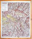 mappa in rilievo Liguria