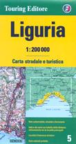 mappa Liguria stradale con distanze stradali, percorsi panoramici