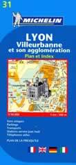 mappa di città n.31 - Lione / Lyon - Villeurbanne et son agglomeration
