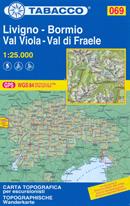 mappa n.069 Livigno, Bormio, Val Viola, di Fraele, Piz Paradisin, C. de Piazzi, Valdidentro, Mora, Lago Cancano, Serra, Sotto compatibile con GPS 2018