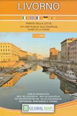 mappa Livorno di città e con Antignano, Montenero Stagno