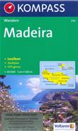 mappa topografica n.234 - Madeira - mappa escursionistica, con spiagge, percorsi per il trekking, luoghi panoramici e parchi naturali - compatibile con GPS - edizione 2014