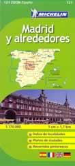 mappa stradale n.121 - Madrid e dintorni - con Toledo, Avila, Segovia, Guadalajara
