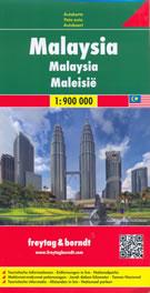 mappa Malesia con Singapore, Kuala Lumpur, Sarawak, Sabah, Yala, Ipoh, Sibu, Brunei, Tarakan