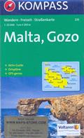 mappa n.235 Malta, Gozo, Valletta, Comino, Rabat, Mosta, Sliema con informazioni turistiche, sentieri, spiagge e luoghi panoramici compatibile GPS 2016