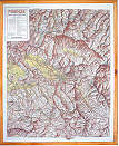 mappa in rilievo Marche