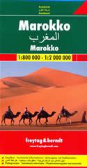 mappa stradale Marocco - con Marrakech, Agadir, Casablanca, Rabat, Tanger, Figuig, Fes, Dakhla - edizione 2014