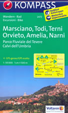 mappa n.2472 Marsciano, Todi, Terni, Orvieto, Amelia, Narni, Montecchio, L. di Corbara, M. Peglia, Viterbo, Calvi dell'Umbria, Montecastrilli, Parco Fluviale del Tevere compatibile con GPS