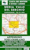 mappa n.20 Media Valle del Serchio, Garfagnana, Val di Lima, Barga, Bagni Lucca, Castelnuovo, Coreglia