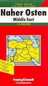 mappa stradale Middle East, Medio Oriente - Turchia, Armenia, Azerbaijan, Iran, Iraq, Kuwait, Giordania, Israele, Siria, Egitto
