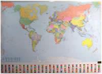 mappa murale Il Mondo Politico, Planisfero, plastificato - edizione 2013