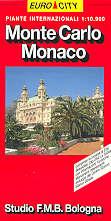 mappa di città Monte Carlo, Monaco