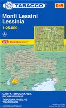 mappa n.059 Monti Lessini, Lessinia S. Giorgio, M. Obante, Recoaro Terme, Catena Tre Croci, Giazza, Bauci, Campofontana, P.so Fittanze, Corno d'Aquilio, Peri, Sant'Anna d'Alfaedo, Molina, Erbezzo, Bosco Chiesanuova, Velo Veronese, Selva di Progno, Rovere Cerro, Badia Calavena, Vestenanova, Fumane compatibile con GPS